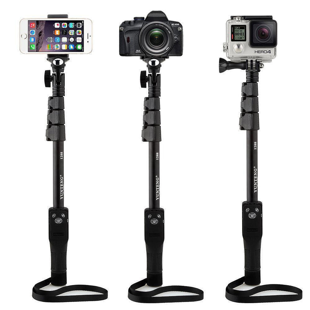Yunteng YT 1288 Selfie Stick Monopod With Bluetooth Remote Shutter Zoom For Mobile Cell Smart Phone