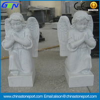 White Marble Sculpture & Statue Cemetery Angel Statues