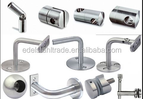 stainless steel glass staircase fitting for price