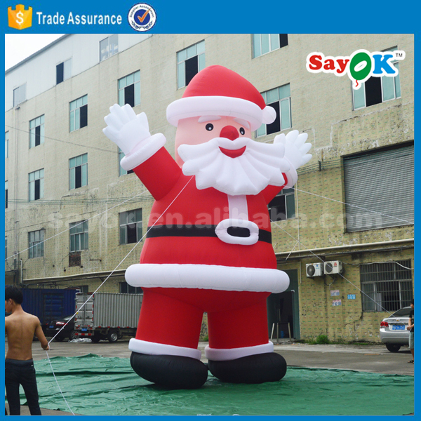 inflatable christmas hunter santa claus airplane balloon lighting decorating