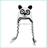 Lovely Panda Newborn Photography Prop Caps Handmade Infant Baby Knitted Cosplay Hat Costume Crochet