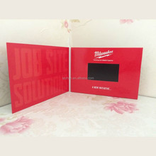 5 INCH LCD video player greeting card