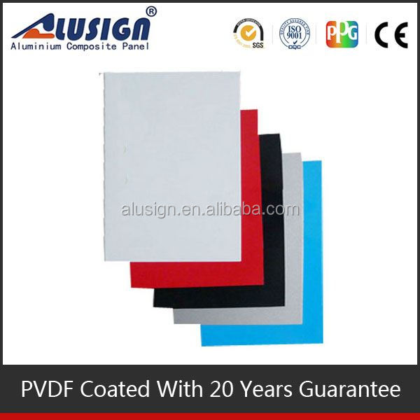 Alusign outdoor plastic wall covering acp aluminum panel