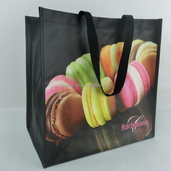 Waterproof Promotional Print Polypropylene Woven Tote Bag