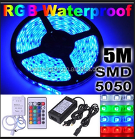 2015 Factory Price led strip shenzhen 5m 300LED waterproof RGB LED Strip Light Kit