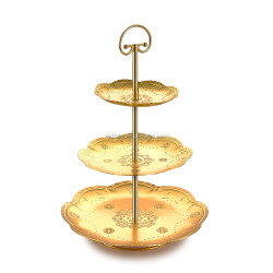 Birthday Party decorative foldable wire folding mini candy cupcake fancy plate gold wedding cup cake stand for holders display