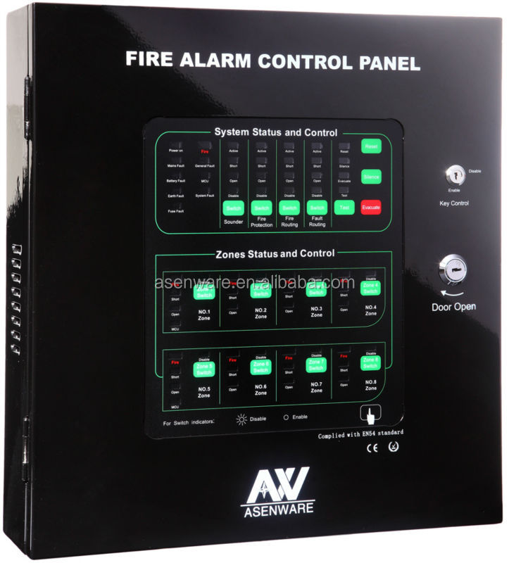 Home Alarm System Conventional Fire Alarm Control Panel