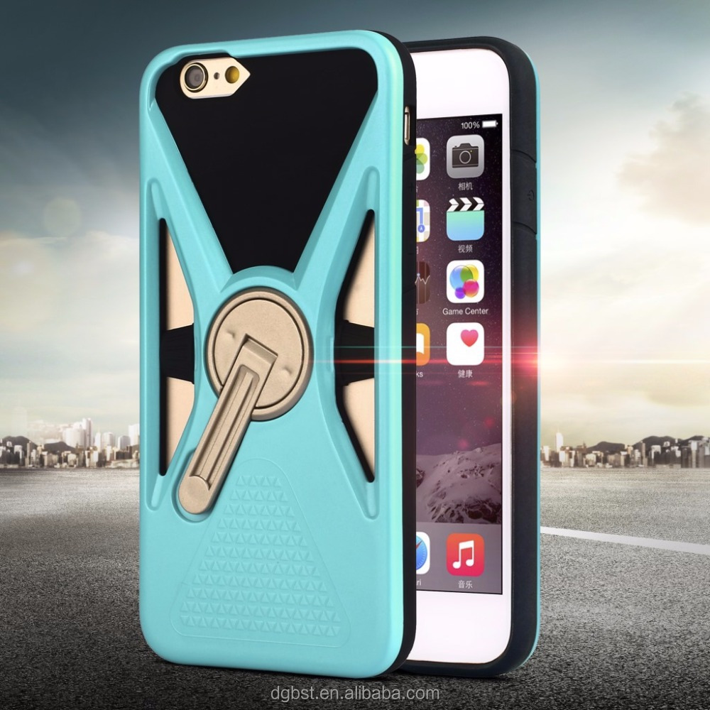 360 Degree Rotation Shockproof Cover Mobile Phone Case For Iphone 7