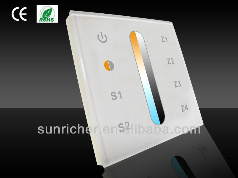 Sunricher iphone control dimmable bicolor led lighting wifi controller,CE ROHS led lighting wifi controller