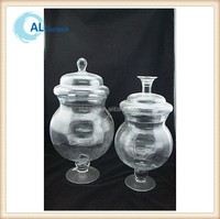 large apothecary glass jar with lid, wholesale glass apothecary jars