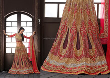 Desginer Saree -Ethnic Wear-Red Bridal Lehnga - Wedding Wear-Bridal Lehnga choli