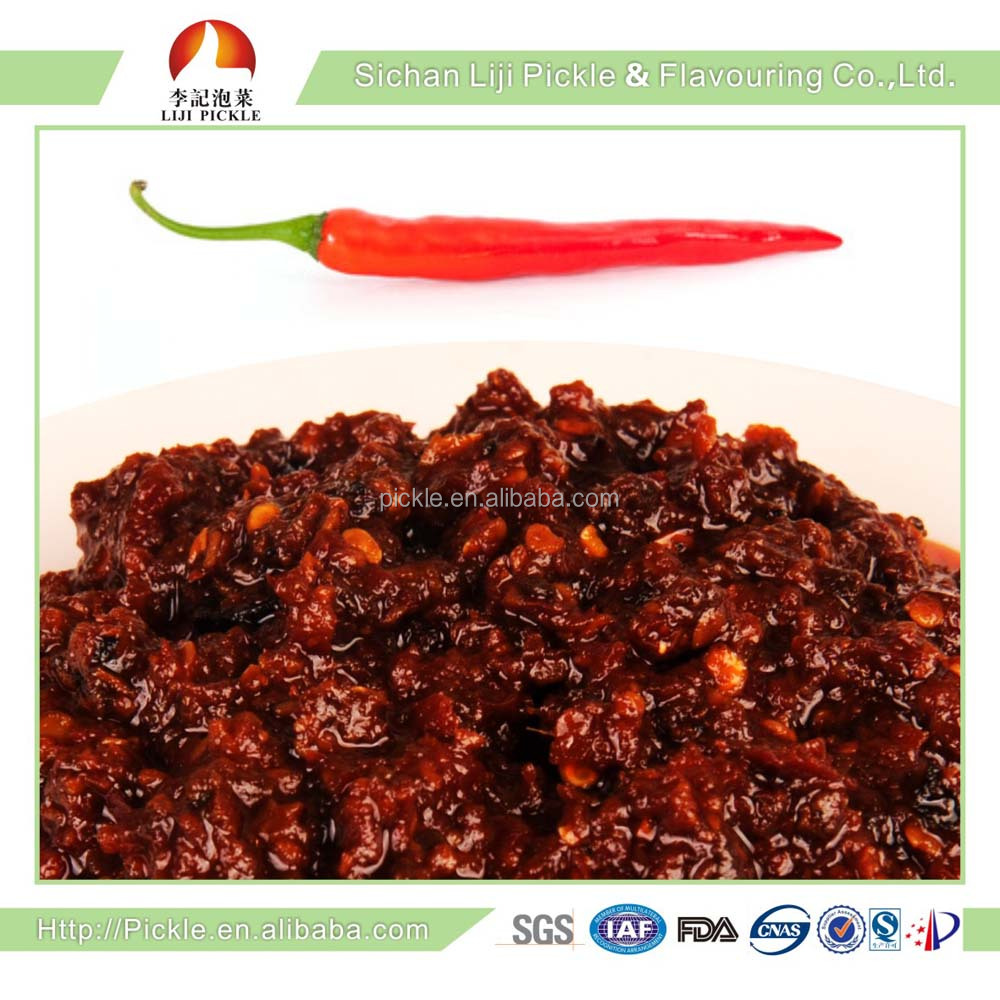 200g, China Sichuan spicy condiment, red chili paste ,Chinese characteristic hot sauce