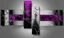 2015 Fashion Lacquer Painting Colorful Abstract oil Painting for sale 4pcs/set