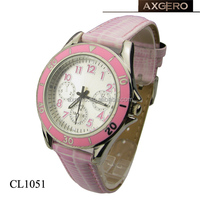 ladies watches brands custom print logo with leather band