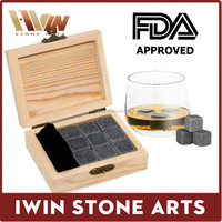 2016 soapstone High quality whisky stones ice cubes whiskey stones 9 Ice Cubes/ Whisky Stone Wine Cooler ROCK