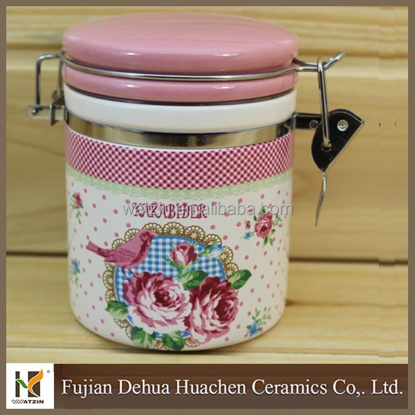 kitchen ceramic air tight coffee canister
