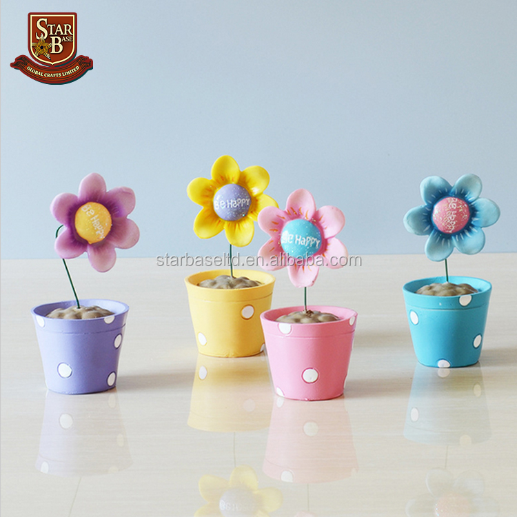 Resin flower home decoration accessories miniature artificial flowers little gift mini landscape garden angel figurines
