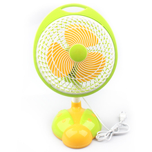 2016 new model summer 180-degree rotating cartoon bright color small box fan
