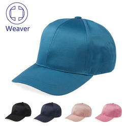 Custom Color 6 Panel Plain Lady Satin Baseball Caps