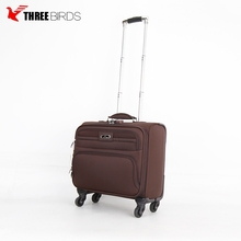 2018 new design wholesale soft nylon travel luggage cabin trolley luggage standard size