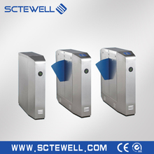 Security Pedestrian Access System Bi-directional Electric Flap Turnstile Barrier Gate