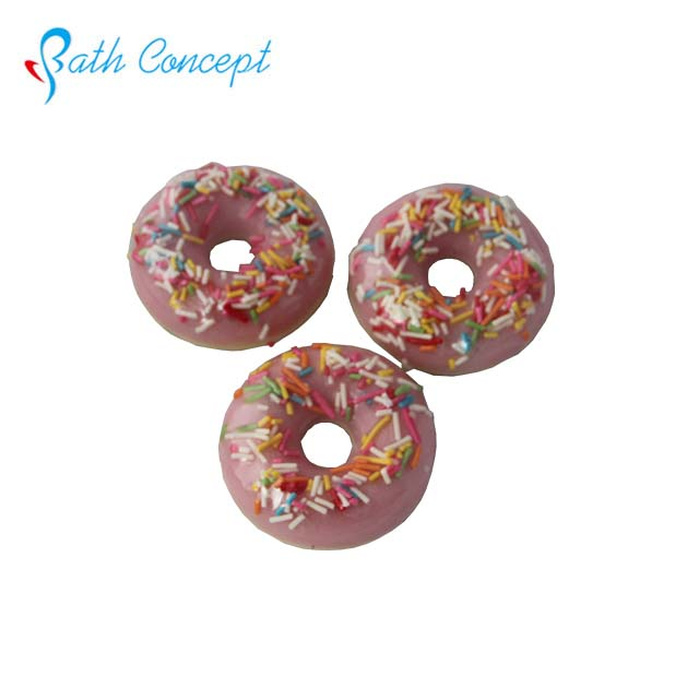 BathConcept custom logo handmade children sugar donut shaped soap