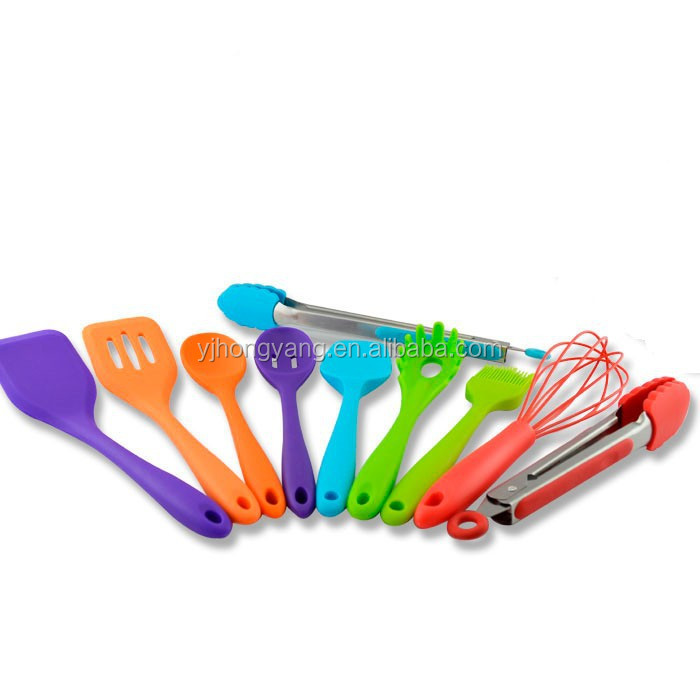 Colorful silicone creative kitchen tools set for for Colorful kitchen tools