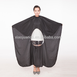 100% polyester salon of Non-stick hair, anti-static White/black/yellow/blue/red/gray hair cutting cape