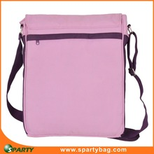 Multifunctional long strap canvas shoulder bag women with laptop compartment inside