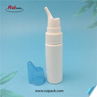 70ml HDPE white color nasal spayer bottle with nasal spray pump with blue cap