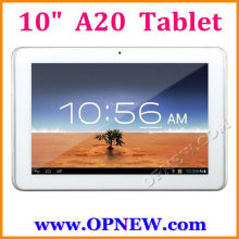 10.1 inch Dual core A20 Android 4.2 Tablets PC 1.52GHz In stock OPNEW Wholesale