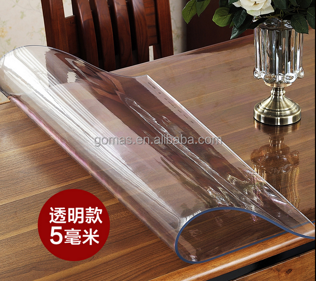 Clear soft flexible transparent pvc flexible plastic sheet 5mm