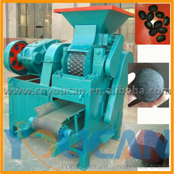 low cost double roller coal ball press machine /bbq charcoal ball briquette making machine