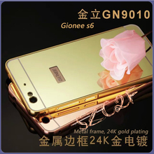 Ultra thin for gionee s6 aluminum bumper case plating mirror bumper case for gionee s6 back cover