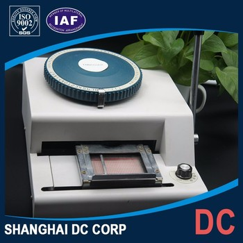 Top Quality PVC Plastic Card Number Embossing With Lowest Price