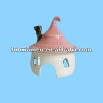 Ceramic outdoor garden ornaments mini fairy house buy for Garden decking ornaments