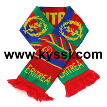 Eritrea National Knitted Jacquard Football Scarf