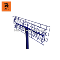 Nice quality Three side outdoor advertising steel signboard billboard structure design