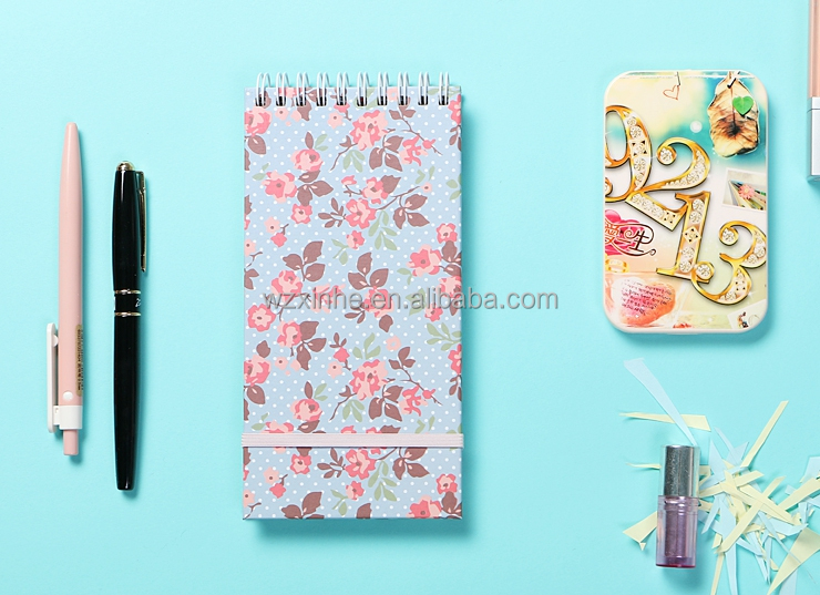 2016 spiral note book as gift and promotion with elastic band