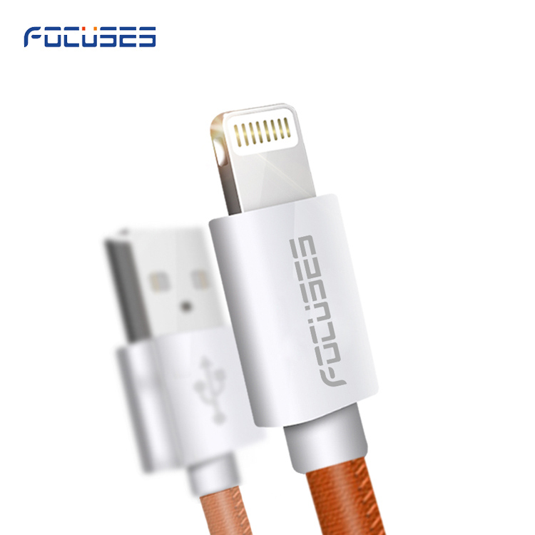 Leather Cable, Lighting Cable Charger 3FT 5ft Lighting 8pin USB Cable Data Sync 8 Pin Fast Charging Cord for Apple iPhone charge