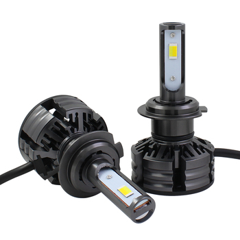 Auto Parts Car Headlight H1 H3 H7 H8 H11 9005 9006 H4 LED Mini Size Dual Color Led Headlight