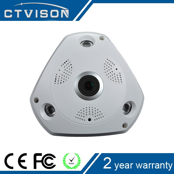 Most popular 2mp 1.3 Megapixel 360-degree panoramic ip fisheye camera