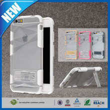 C&T Clear belt clip kickstand rubber coating 3d pc mobile phone case for apple iphone6s