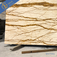 Natural yellow marble with brown veins polished stone slabs