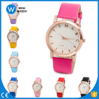 China Watch Manufacturer Ladies Women's Geneva Leather Band Elegant Flower Casual Analog Quartz Wrist Watch WLW008
