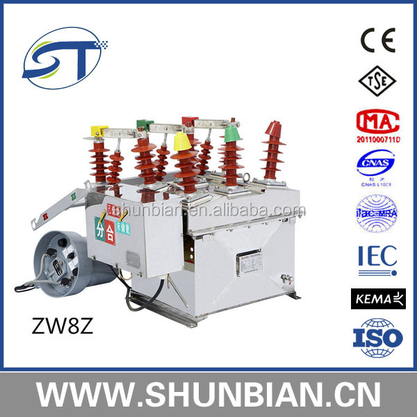 zw8 24kv vcb high voltage outdoor load break switch for power distribution equipment
