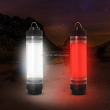 Mini PC ABS rechargeable camping light outdoor red light flashing led camping lantern