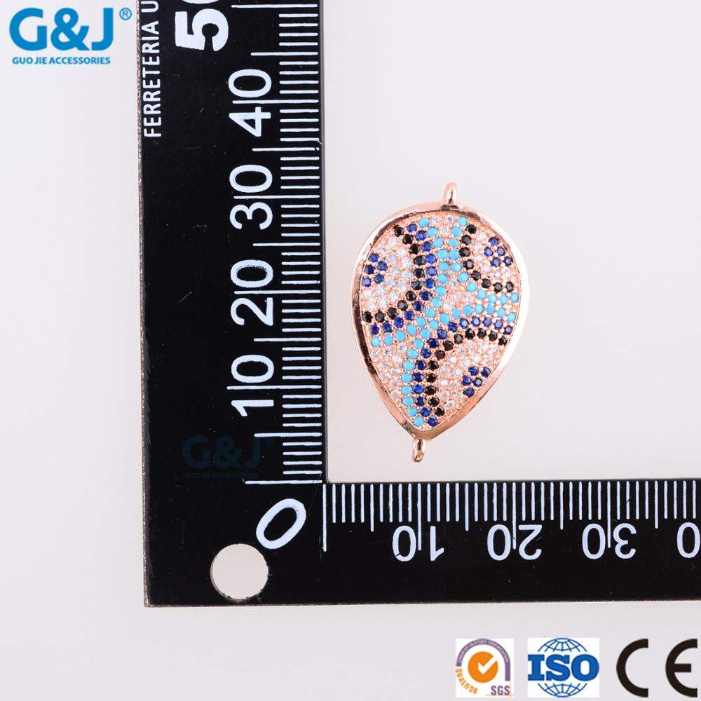 guojie brand wholesale fashion cubic zircon microc pave beads charm for jewelry