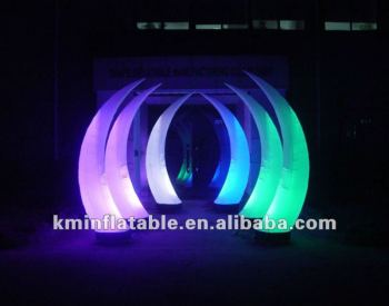 Outdoor inflatable light cone