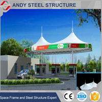 Large Span Space Frame Steel Structure Prefab Truss for Gas Station
